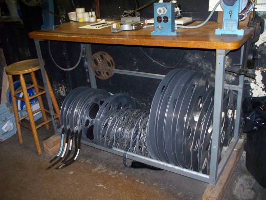 Old film reels at the Tampa Theatre